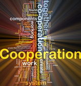Cooperation background concept glowing — Stock Photo