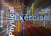 Physical exercise background concept — Stock Photo