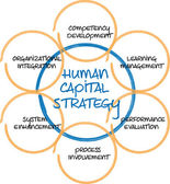 Human capital business diagram — Stock Photo