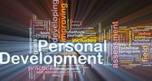 Personal development background concept — Stock Photo