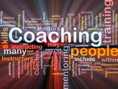 Coaching background concept — Stock Photo