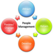 Management business diagram — Stock Photo