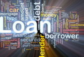 Loan background concept glowing — Stock Photo