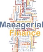 Managerial finance is bone background concept — Stock Photo