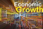 Economic growth background concept glowing — Stock Photo