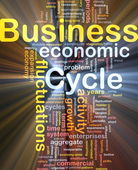 Business cycle background concept glowing — Stock Photo