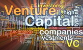 Venture capita background concept glowing — Stock Photo