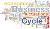 Business cycle is bone background concept — Stock Photo