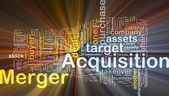 Merger acquisition background concept glowing — Stock Photo