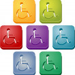 Handicap symbol button set — Stock Photo #5555424