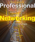 Professional networking background concept glowing — Stock Photo