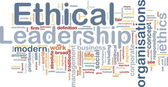 Ethical leadership background concept — Stock Photo