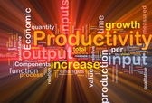 Productivity background concept glowing — Stock Photo