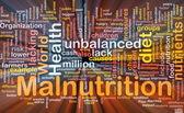 Malnutrition background concept glowing — Stok fotoğraf