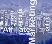 Affiliate marketing word cloud — Stock Photo