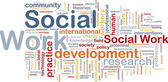 Social work background concept — Stock Photo