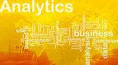Analytics background concept — Stock Photo