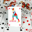 Joker in cards — Stock Photo