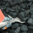 Coal and miner — Stock Photo