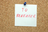 To remember — Stock Photo