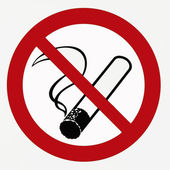 Förbud mot rökning — Stockfoto