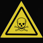 Alerting poisoning of intoxicants to a danger — Stock Photo