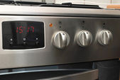 Oven with digital clock — Stock Photo