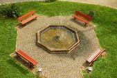 City fountain park — Stock Photo