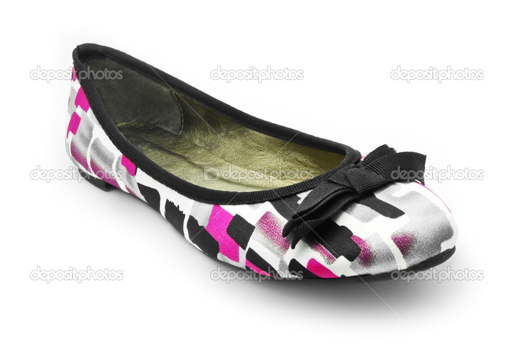 Lady flat shoe — Stock Photo #5410233
