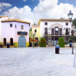 Small square in Calella. Spain. — Stock Photo