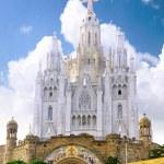 Temple on mountain, Barcelona.Spain — Stock Photo