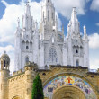 Temple on mountain, Barcelona.Spain - Stock Photo