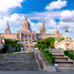 Placa De Espanya, Barcelona — Stock Photo