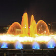 The famous Montjuic Fountain in Barcelona. Fractal. Spain. — Stock Photo