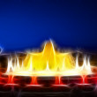Stock Photo: Famous Montjuic Fountain in Barcelona. Fractal. Spain.