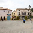 Stock Photo: Small square in minor Spanish town Calella. Spain.