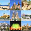 Collage- All Beauty Barcelona. Spain — Stock Photo