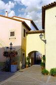 舒适的西班牙小镇。西班牙加泰罗尼亚 — 图库照片
