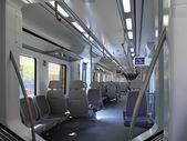 Iterior of Speed Train in European City. — Stock Photo