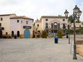 Small square in the minor Spanish town Calella. Spain. — Stock Photo