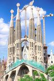 Temple Sagrada Familia- of Gaudi in Barcelona. Spain — Stock Photo