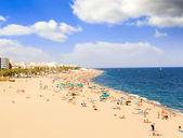 Beaches, coast in Spain near Barcelona. — Stock Photo