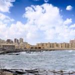 Alexandria, seafront view . Egypt — Stock Photo