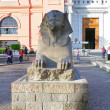 Stock Photo: Cairo Museum of Egyptology and Antiquities. Exhibits in front of museum