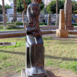 Cairo Museum of Egyptology and Antiquities. Exhibits in front of the museum - Foto Stock
