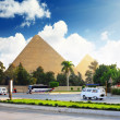 Ancient Great Pyramids and present day of Giztown,suburb of Cairo city. E — Photo #6234664