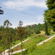 Funicular in tropical park Arboretum , Sochi city - Stock Photo