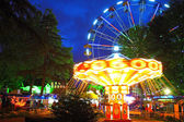 Night illumination in Park Riviera , Sochi city — Foto de Stock