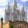 Temple on mountain, Barcelona.Spain — Stockfoto