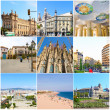 Stock Photo: Collage- Beauty Barcelona.